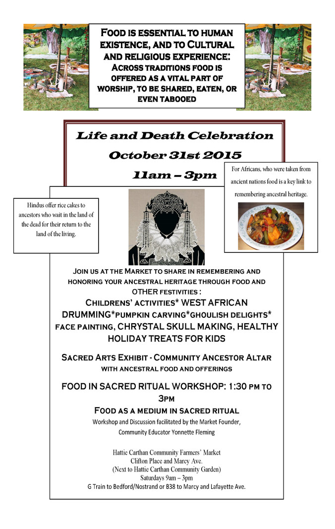 Life and Death Celebration October 31st