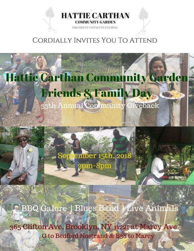 Hattie Carthan Community Garden Friends and Family Day