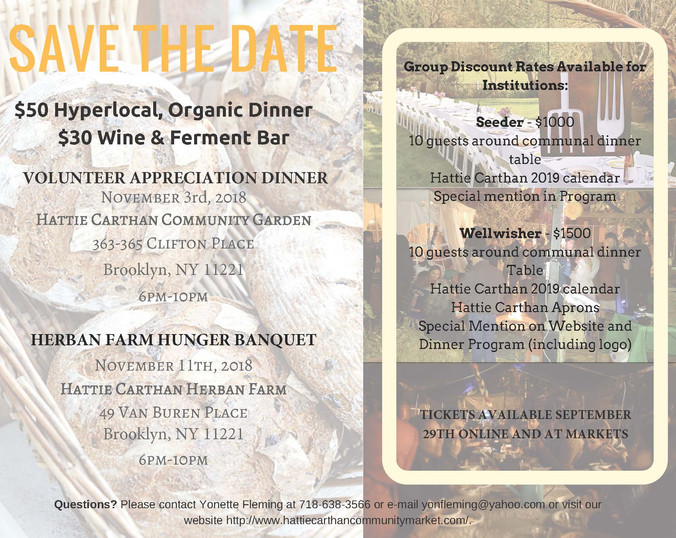 Our Annual Communal Dinner / Fundraiser is TONIGHT.  Buy your tickets here! Hope to see you there.