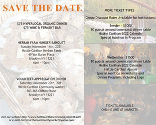 Tickets Available for our Annual Communal Dinner. Two dates: Nov 14th and Nov 20th. Get yours today!