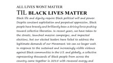 ALL LIVES WONT MATTER UNTIL BLACK LIVES MATTERSocial Justice Ritual Offering Exhibit