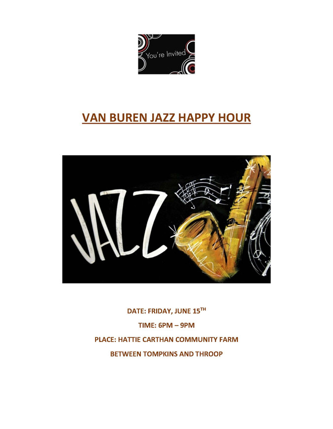 VAN BUREN JAZZ HAPPY HOUR JUNE 15TH - 6PM - 8PM
