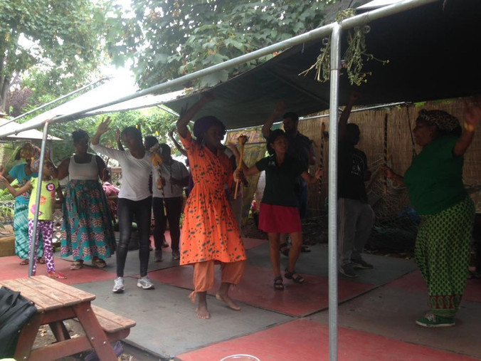 The Market is Alive with African Dance and Drumming!