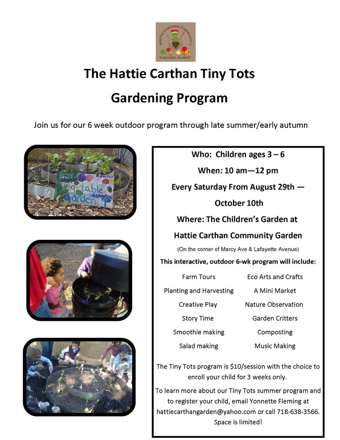 The Hattie Carthan Tiny Tots Gardening Program