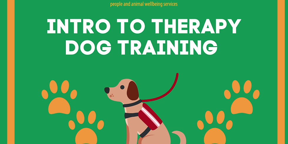 An Intro to Therapy Dogs Workshop