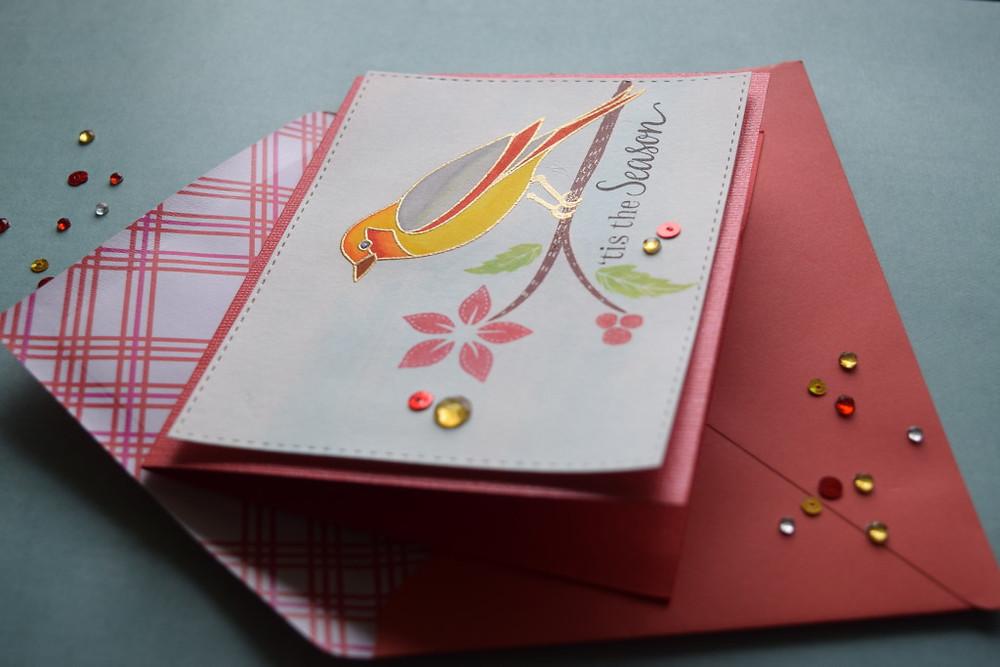 red-yellow bird card