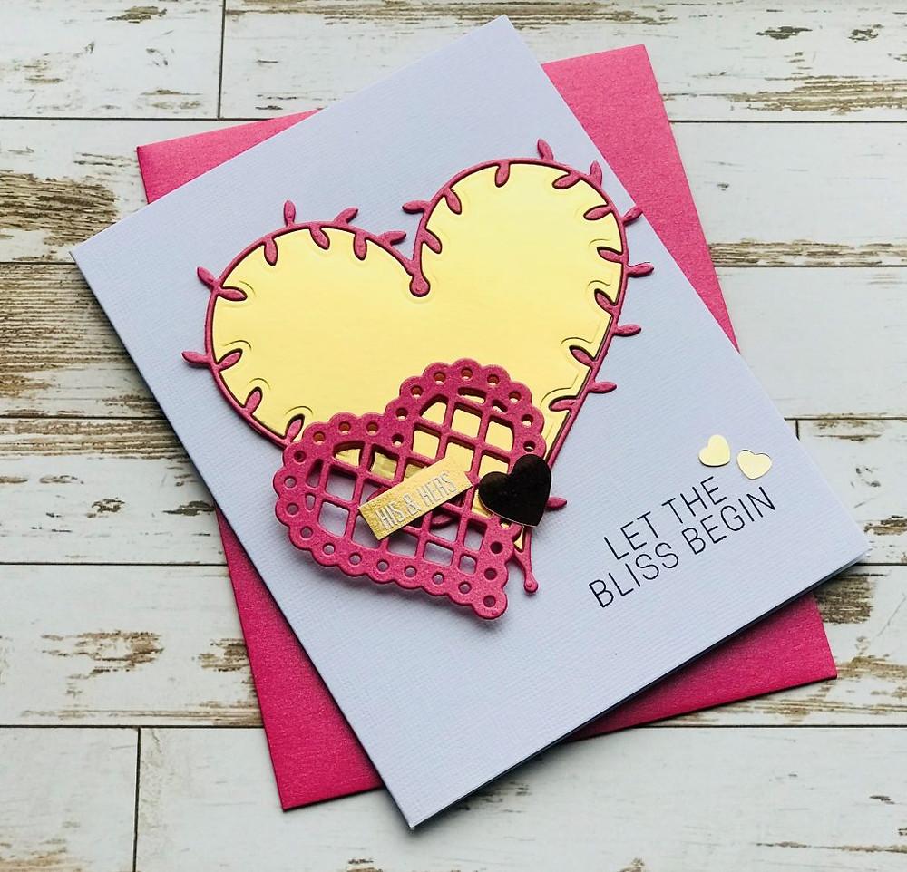 Wedding card using Spellbinders dies - 1