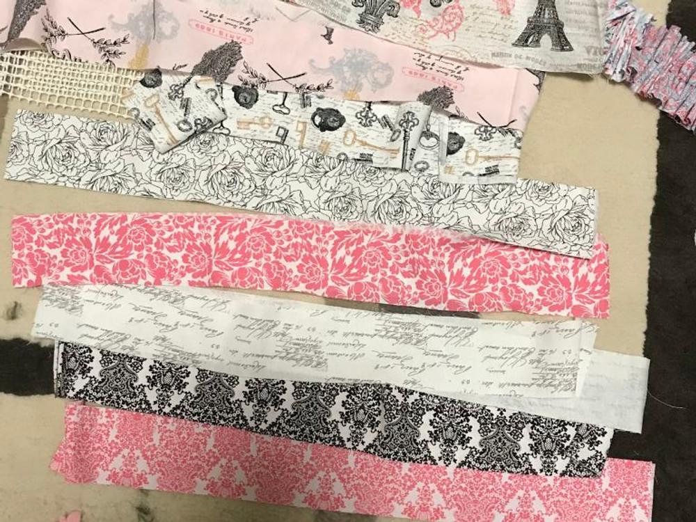 DIY Rug - strips into pattern