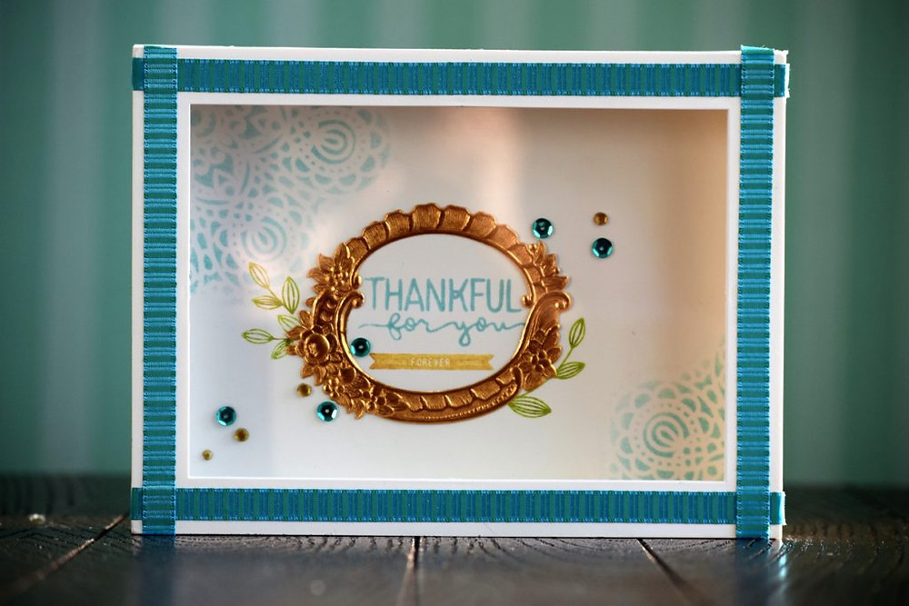 Teacher gift - Framed Art using Simon Says Stamp paper crafting products
