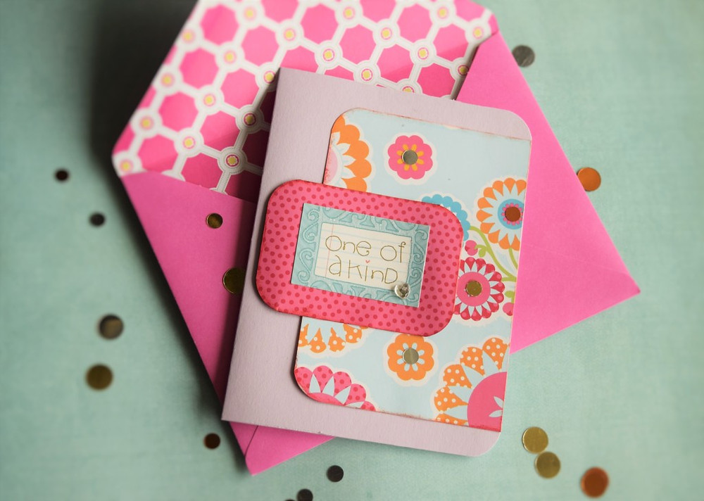 teachers card using patterned paper