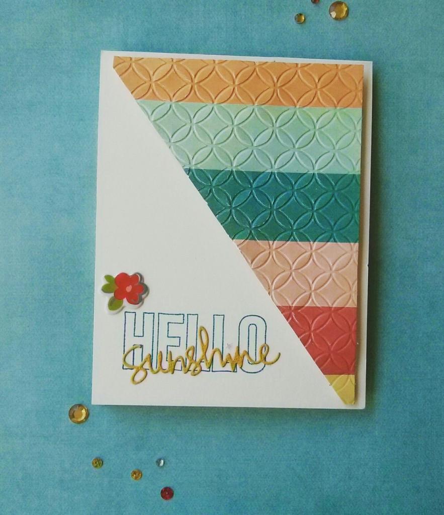 Hello Sunshine card using SSS August 2015 card kit