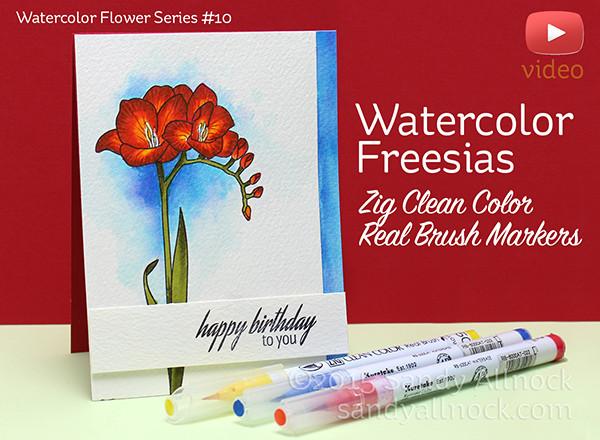Sandy-Allnock-Watercolor-Freesias-Clean-Color-Pen