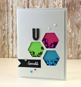 Hexagon Sparkle card
