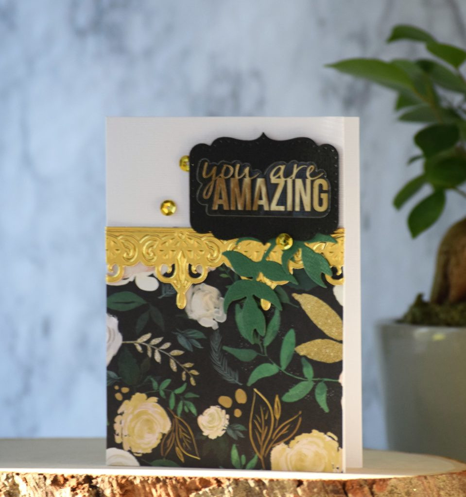 """Spellbinders """"You are Amazing"""" card"""