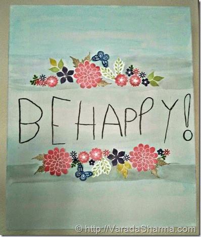 Be happy canvas art