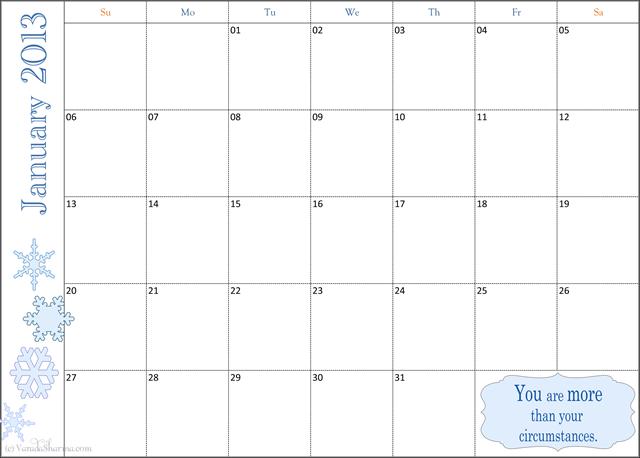 2013 Weekly Calendar final copy