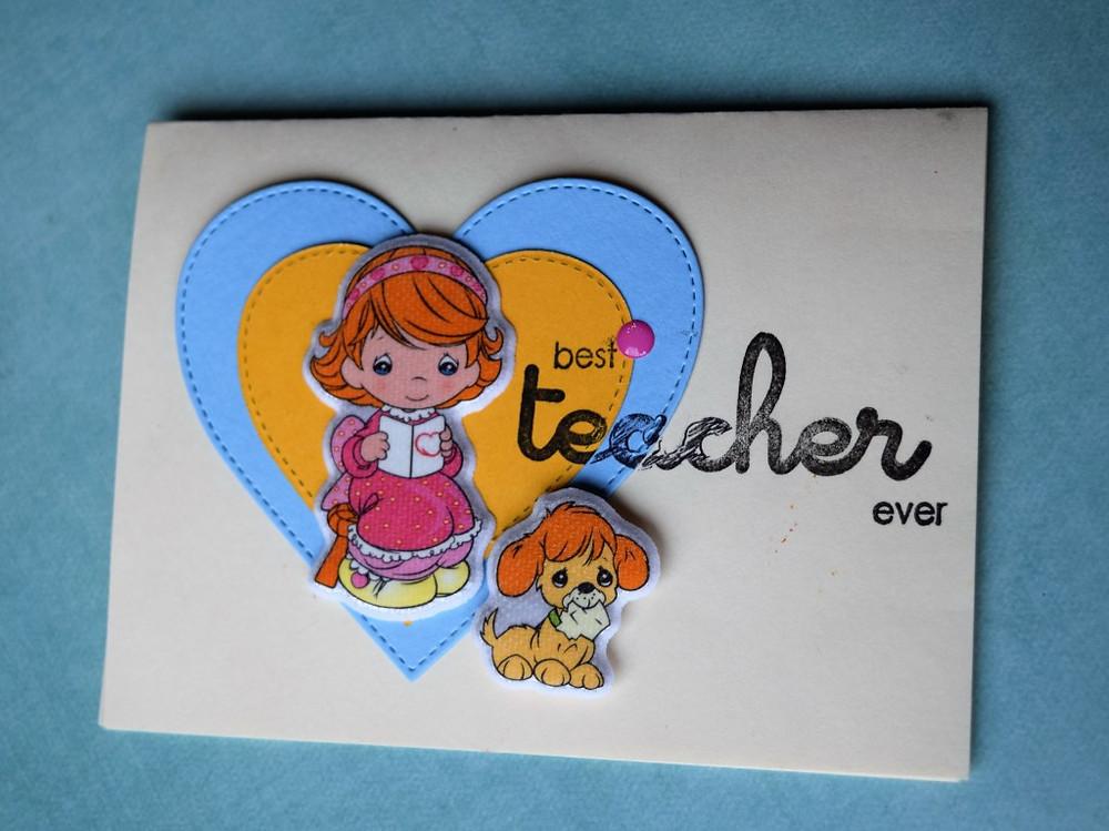 Best Teacher Ever card using stickers 1