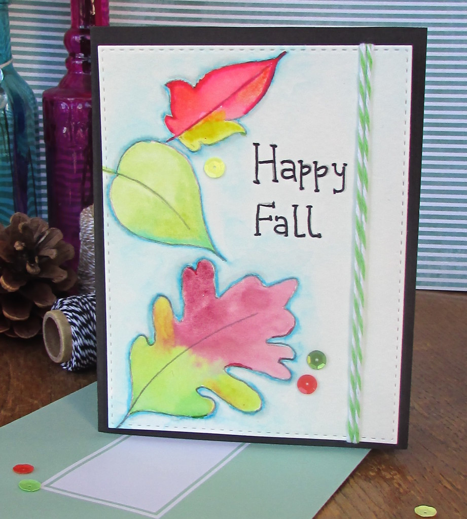 Watercolor card 2 - World card making day 2015