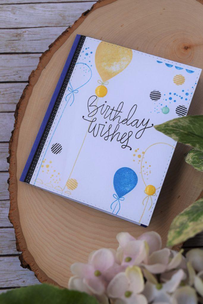balloons card 1