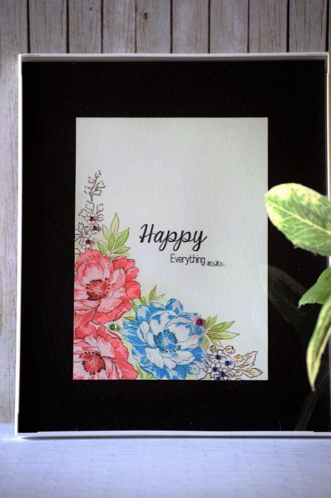 Frames art using Altenew stamps