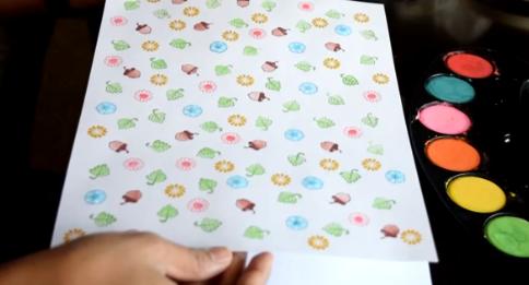 Custom patterned paper