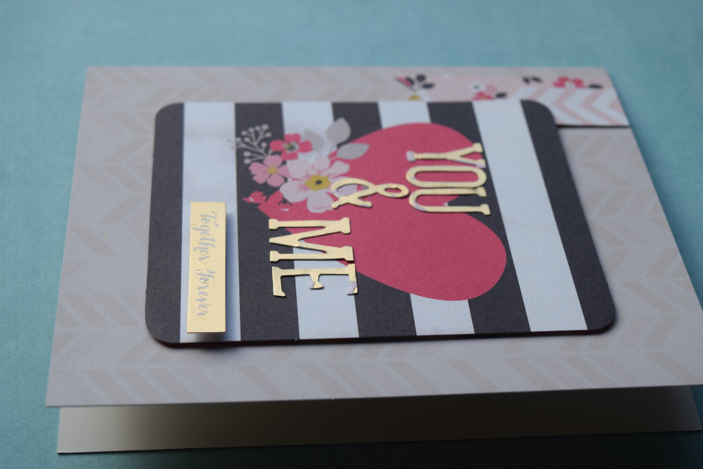 Love themed card using My Minds Eye goodies