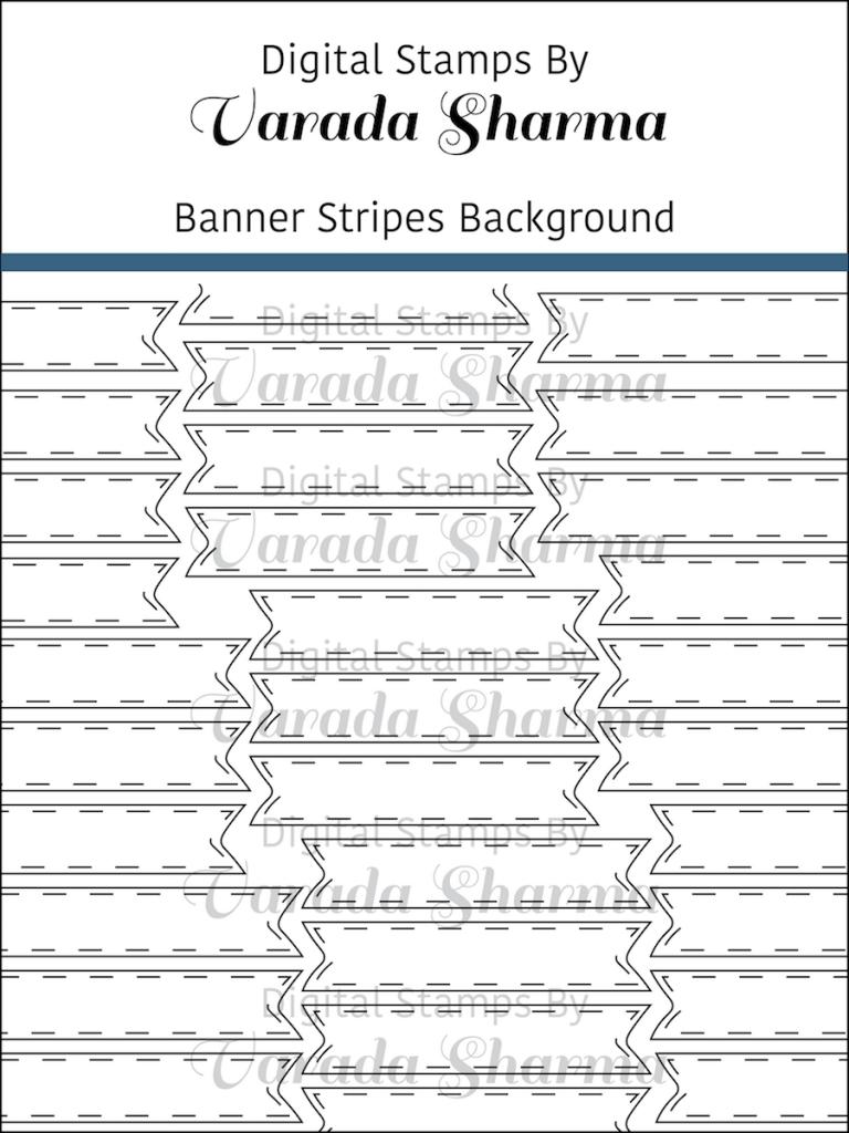 Banner Stripes Background stamp set