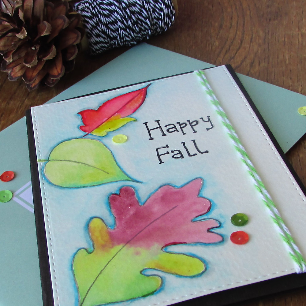 Watercolor card 2a - World card making day 2015