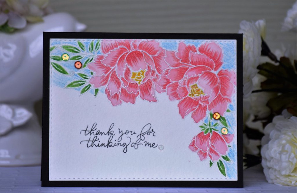 Adding subtle shimmer to cards with sparkle pen