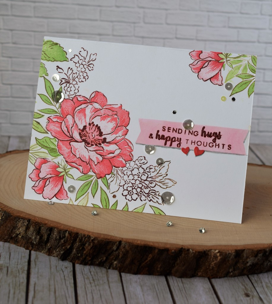 One layer card using Altenew stamps