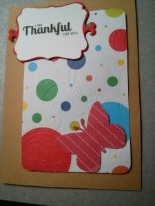 Creating - Handmade Thanksgiving greeting card