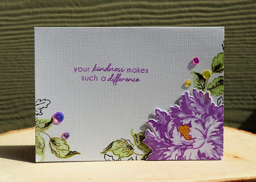 Altenew Majestic Bloom card