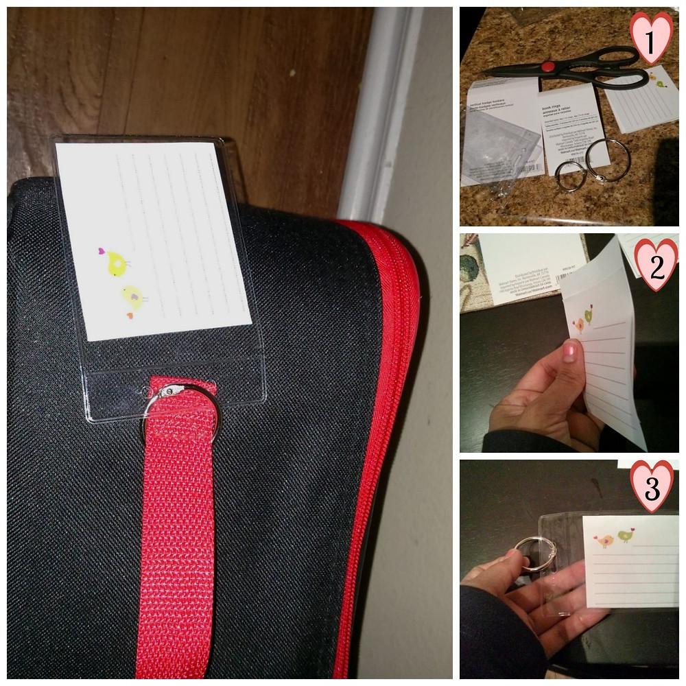 DIY luggage tags - tutorial
