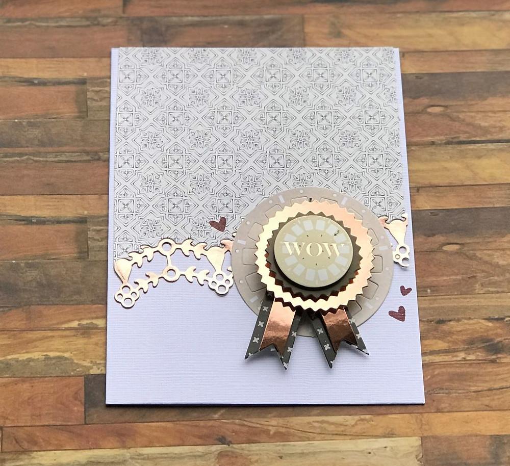 Spellbinders Wow card