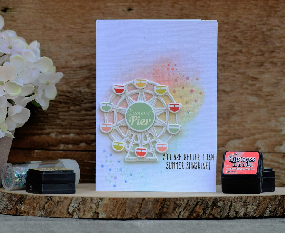 Card using Spellbinders card kit of the month