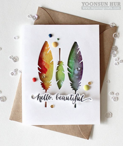 Rejoicing Crafts - feather card
