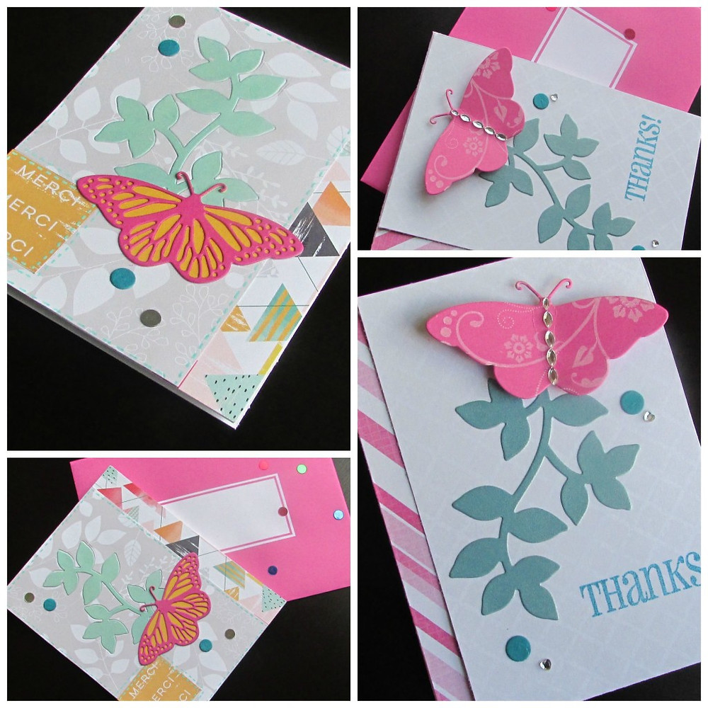 One sketch two cards - with and without inlaid die cutting