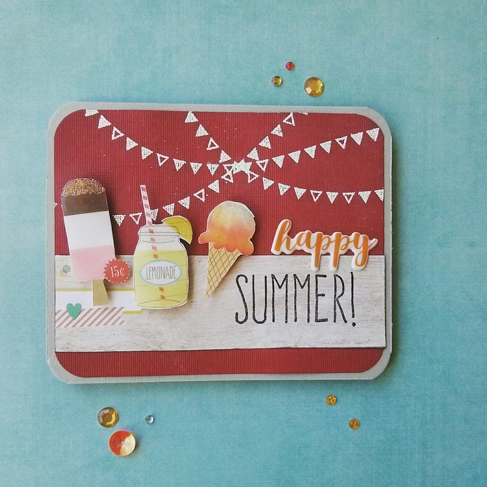 Happy Summer Card using SSS August 2015 card kit