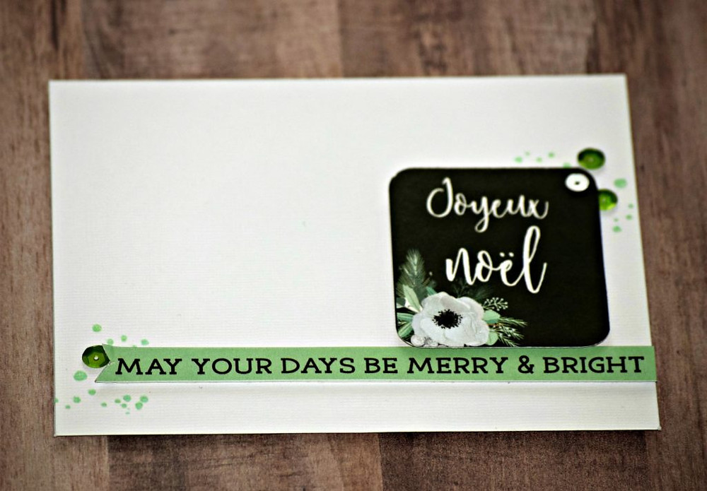 Card with minimal stamping 3