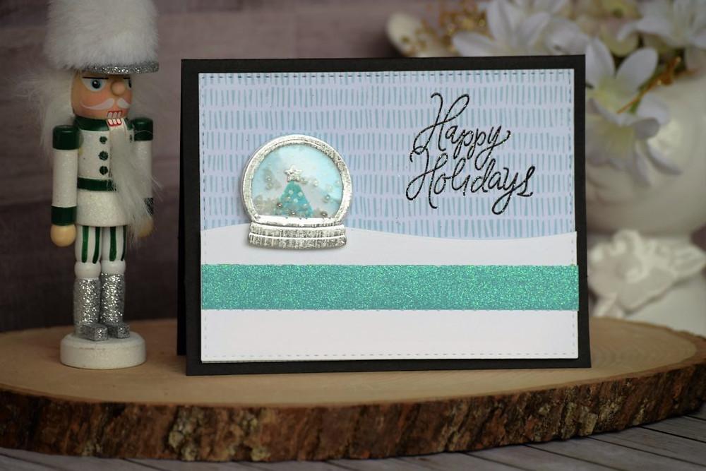 Happy Holidays Snowglobe Landscape