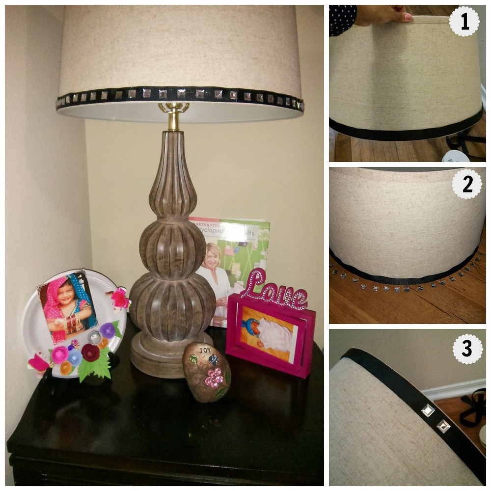 Steps for lampshade