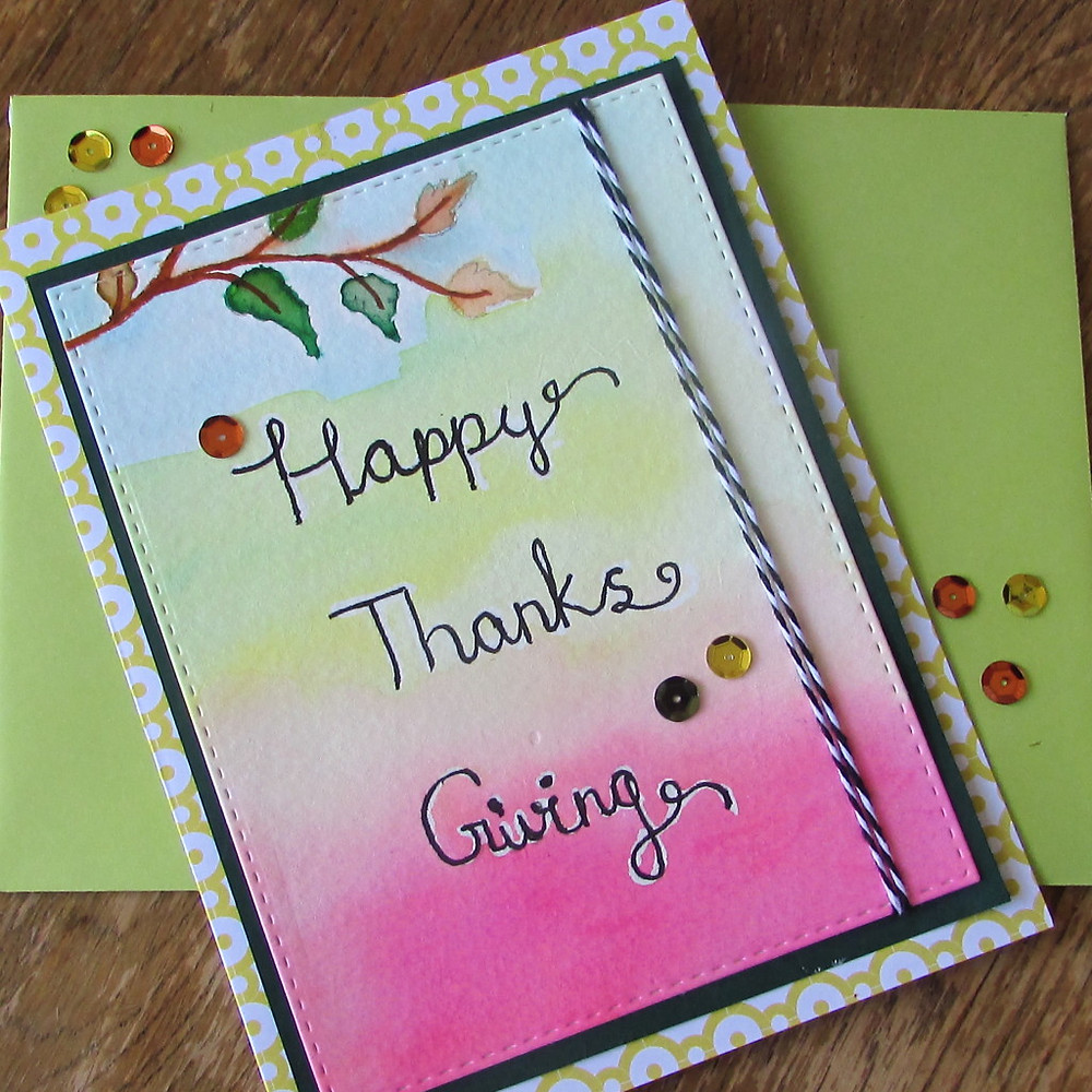 Watercolor card 1a - World card making day 2015