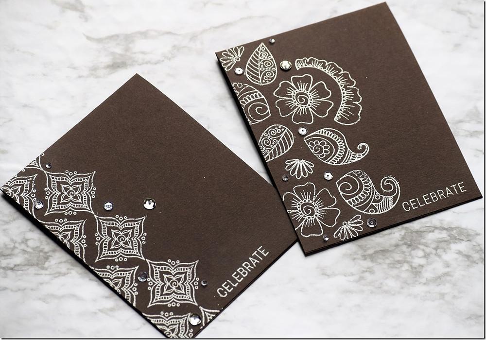 Henna Patterns both cards