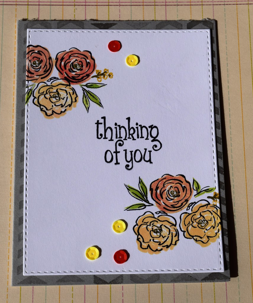 Lasting hearts card drive cards - Thinking of you