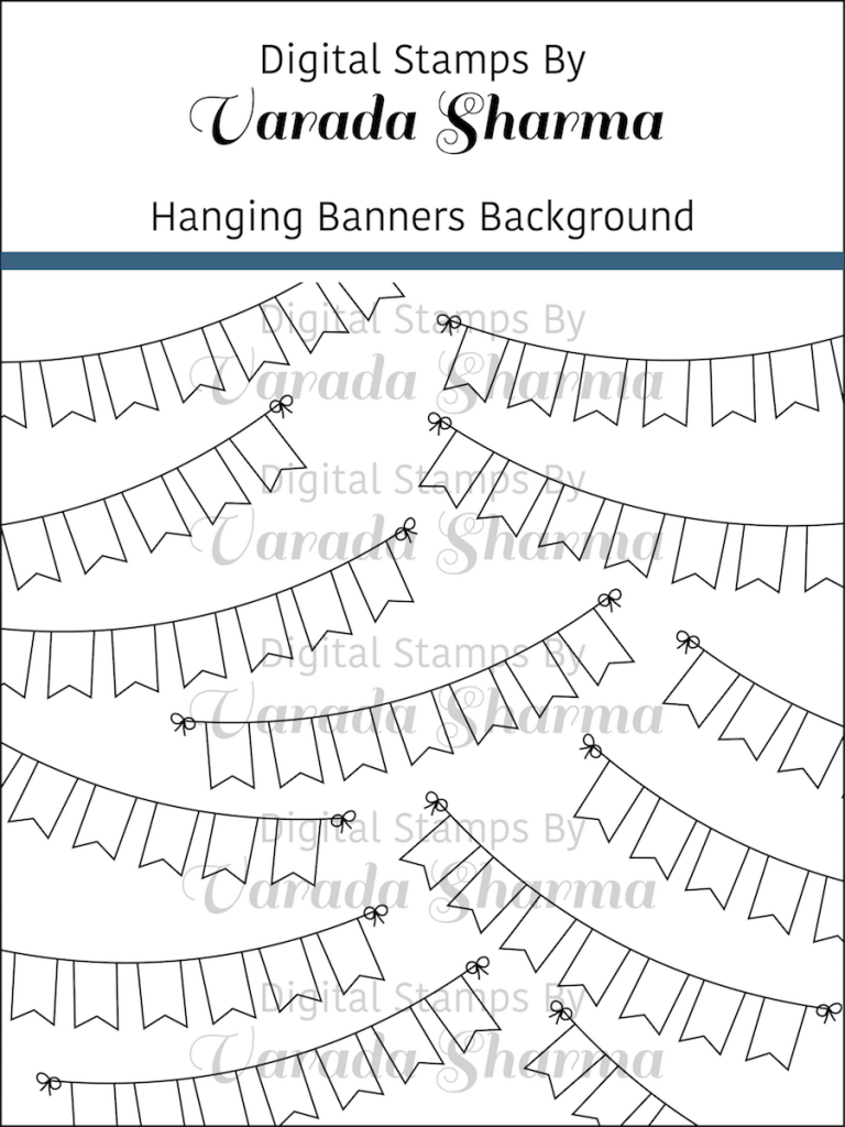 Hanging Banners Background Stamp