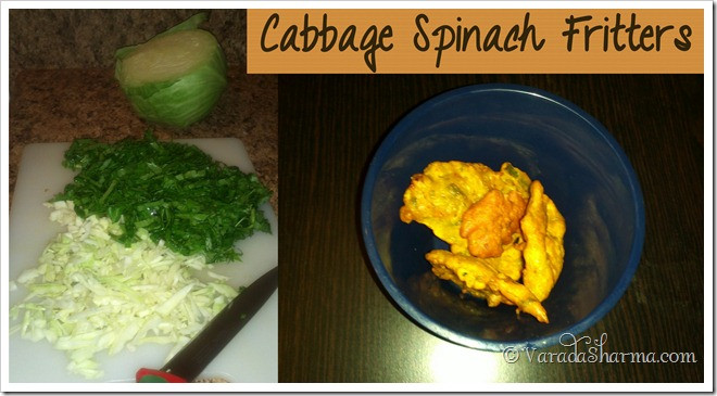 cabbage spinach fritters