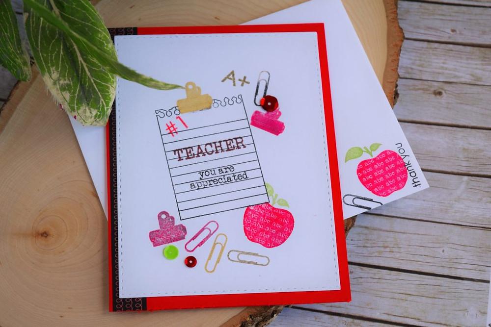 teachers appreciation cards