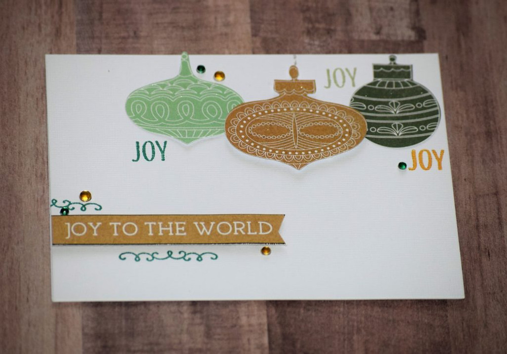 Card with minimal stamping 2