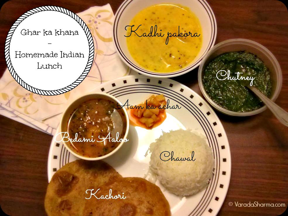 Ghar ka khana - homemade Indian lunch