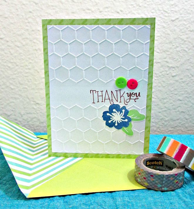 Thank you card using stamps from SSS March 2015 card kit